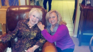 Jeanie David with daughter, Shelley, Christmas Eeve 2012